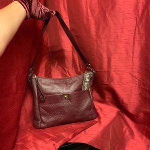 Elliot Lucca Coraline Cabernet Leather Bag